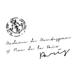 """French address with stamp..13.5""""x8.25"""""""