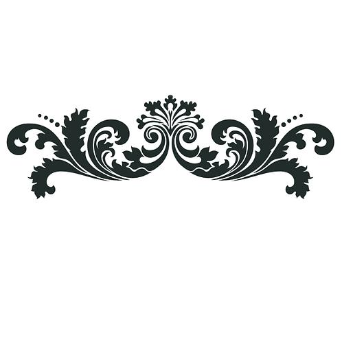 """Leafy Scroll Linear 14""""x6"""""""