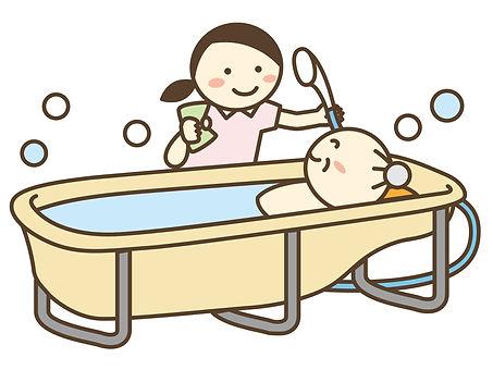 介護職員と入浴介助
