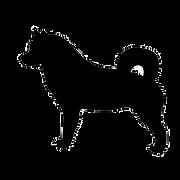 犬の影フッター