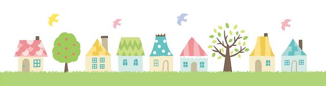 鳥と家のイラスト