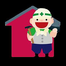 屋根の修理イラスト