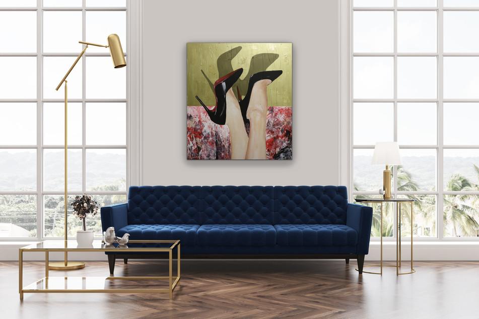 ZÜRICH, Mixed media on canvas, 85x75cm, 2019