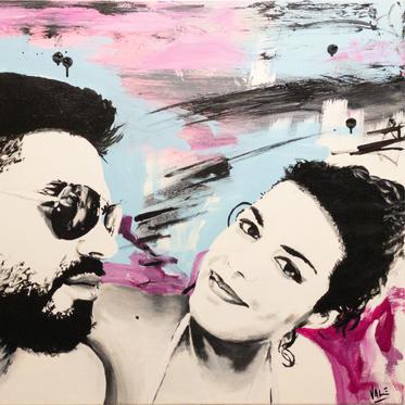 """#78 """"Stella und George"""", 2021, 80x70cm"""
