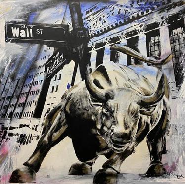 "#75 ""NEW YORK Wall St"", 2021, 100x100cm"