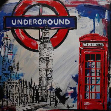 """#82 """"LONDON"""", 2021, 50x50cm"""