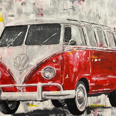 "#65 ""VW BULLI"", 2020, 80x60cm"