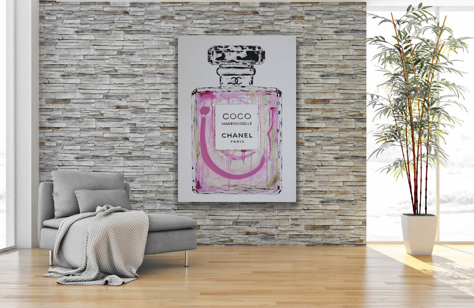 COCO CHANEL, Mixed media on canvas, 120x85cm, 2019
