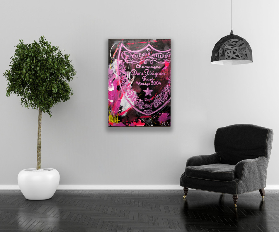 DON PERIGNON, Mixed media on canvas, 70x50cm, 2020