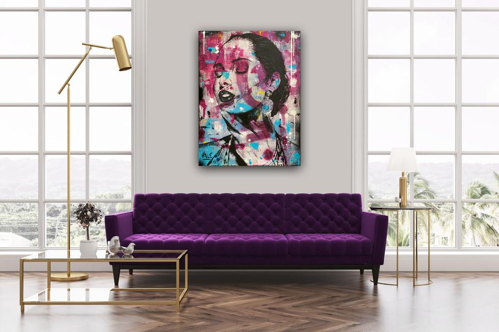 LES CHARMES FÉMININS, Mixed media on canvas, 80x60cm, 2019