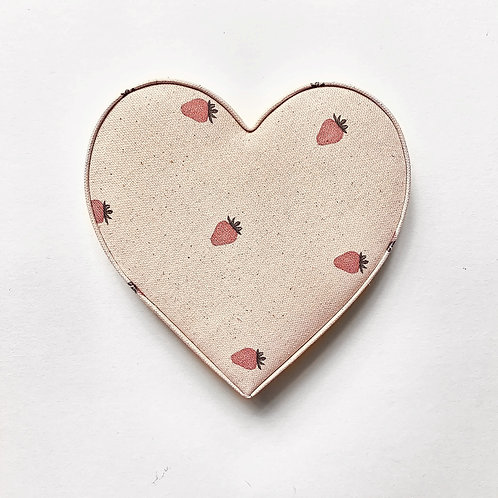 Organic Strawberry Fabric Heart