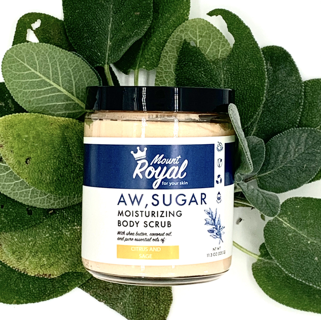 Citrus and Sage body scrub