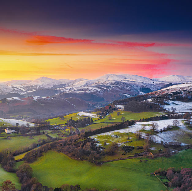 View from Castell Dinas Bran by Paul Fos
