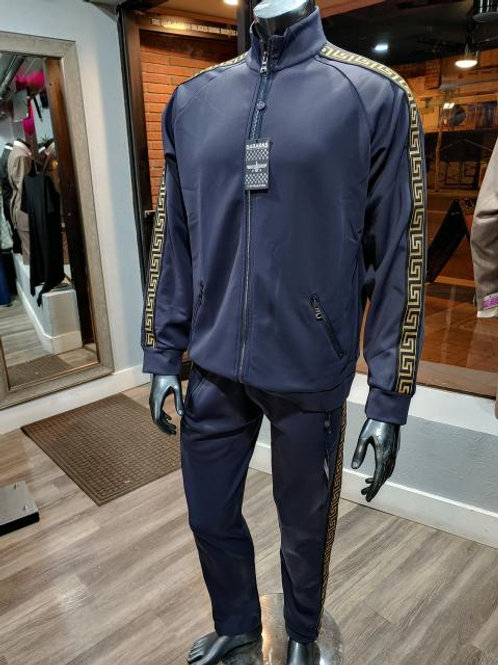 Navy and Gold Track Suit