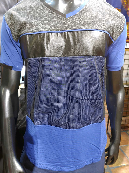 Men's Leather T-Shirt
