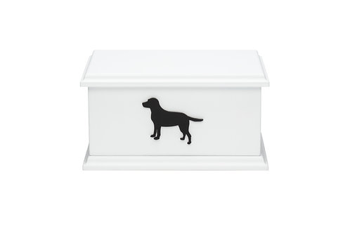 Black Dog Silhouette Pet Ashes Box (breed specific)