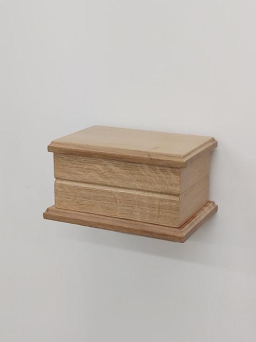 Classic Solid Oak Pet Ashes Box