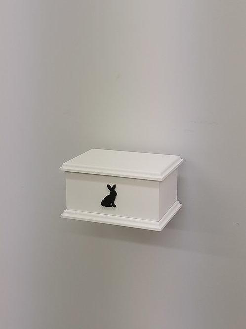 Rabbit Silhouette Pet Ashes Box