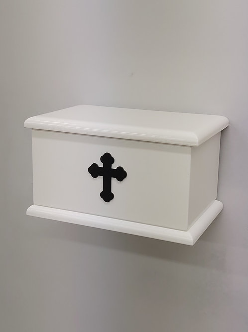 Cross Silhouette Adults Ashes Box