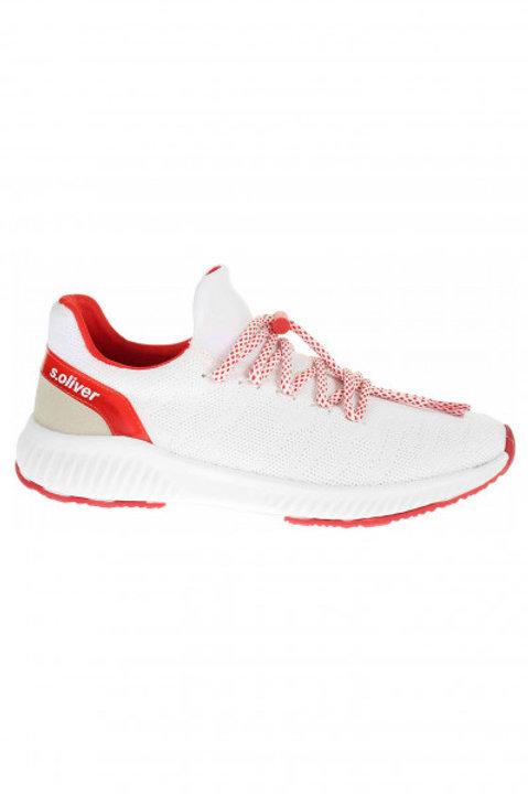 Tenisky kombinované white/red S.Oliver