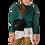 Thumbnail: Úpletový sveter kratší - smaragdový