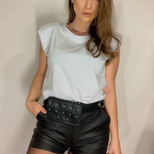 Tričko s vypchávkami -biele
