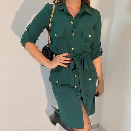 Šaty La blanche s gombíkmy smaragdové