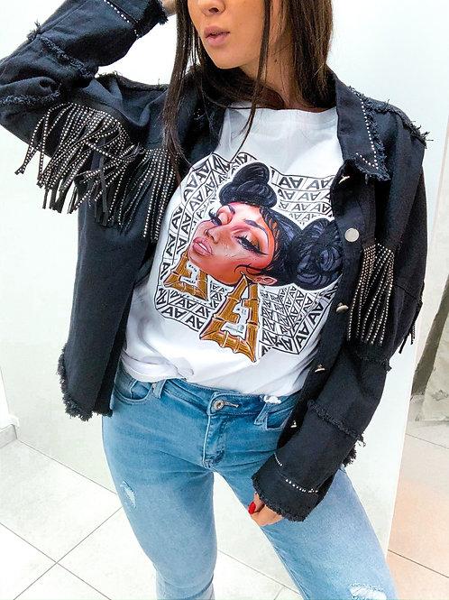 Rifľová bunda čierna