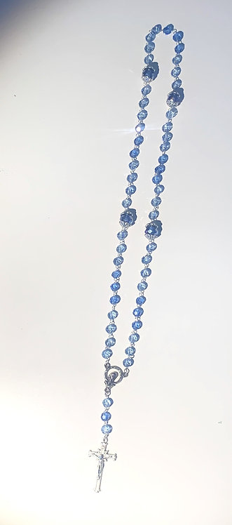 Holy Rosary Blue Crystals