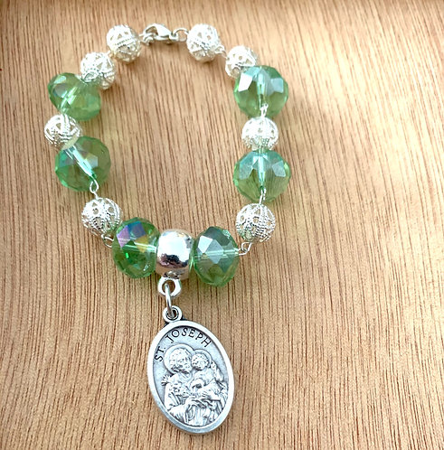 St. Joseph Emerald Crystal Bracelet