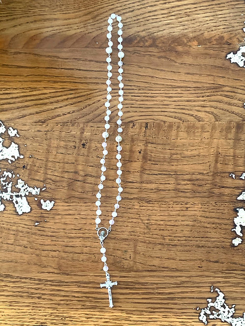 Holy Rosary Silver and Crystals