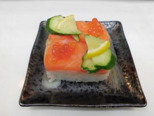 可愛い、親子押し寿司。