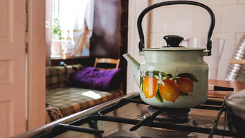 Kettle on Gas Stove