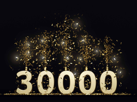 DOW FINISHES ABOVE 30,000 FOR THE FIRST TIME IN HISTORY!!!