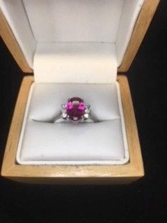 Rubelite & Diamond Ring