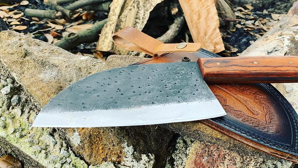 Camp chef knife with sheath
