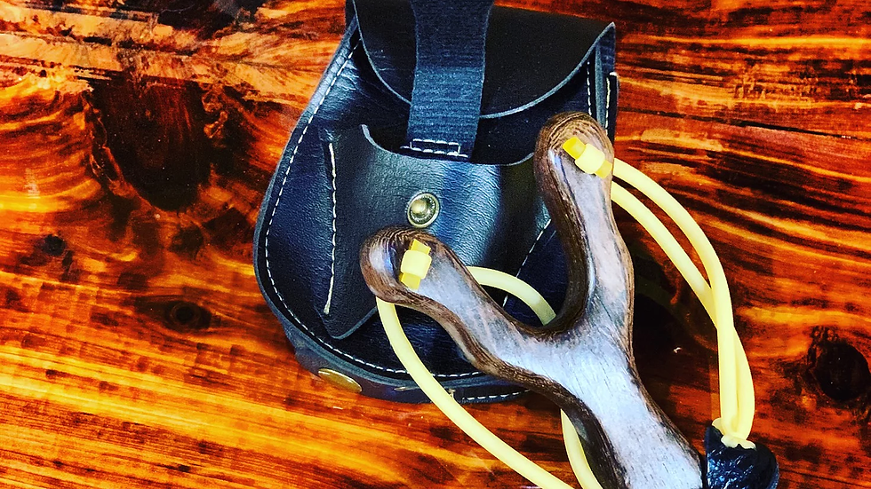 Slingshot with leather case