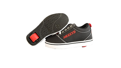 HEELYS PRO 20 BLACK WHITE AND RED
