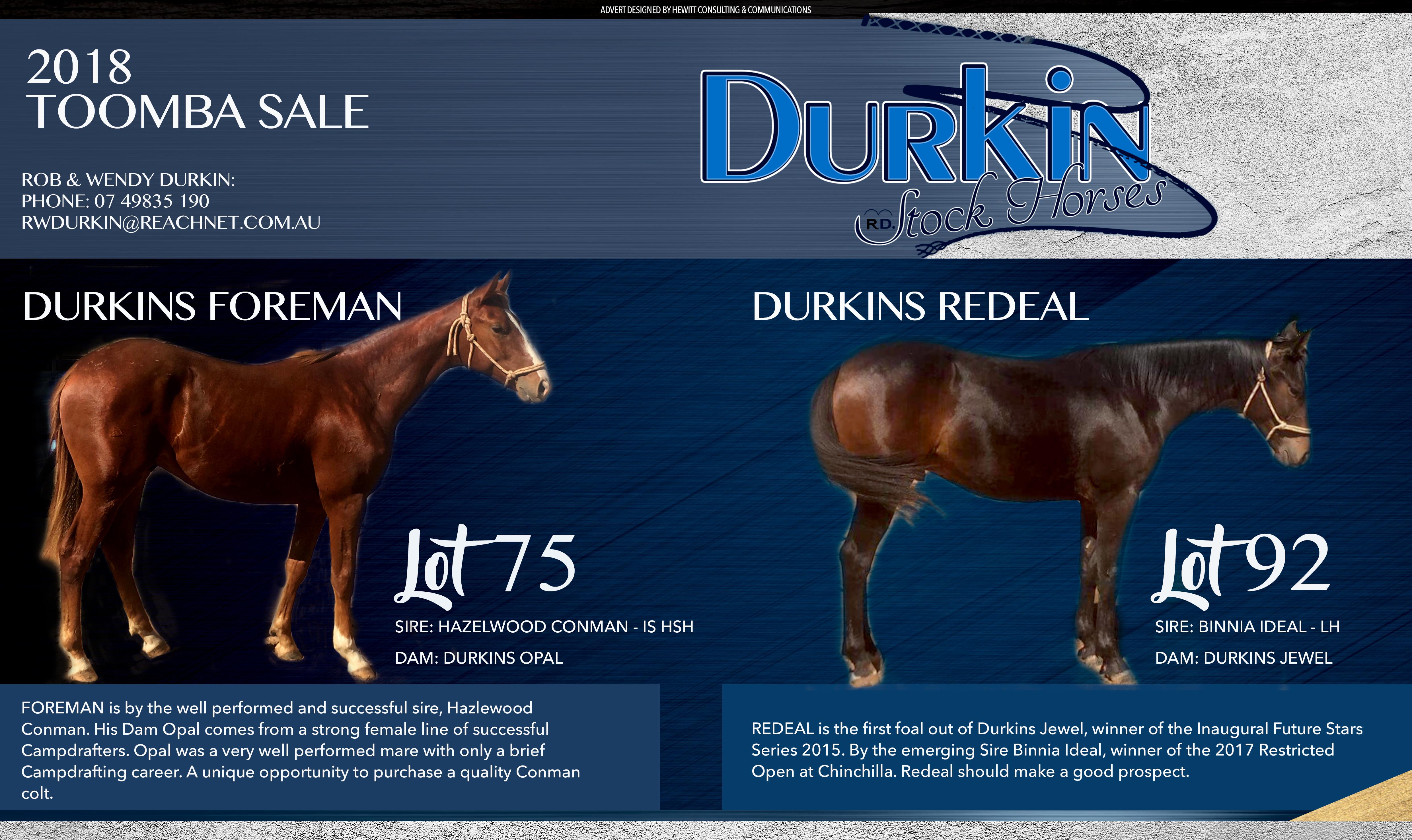 Durkins Advert TOOMBA
