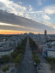 The View from top of Arc de Triomphe, Paris