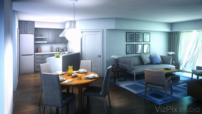 Ottawa Condo Interior Design Visualizaion
