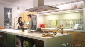 Modern Open Concept Kitchen Design