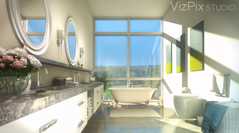 Architectural Visualization of Luxury Bathroom