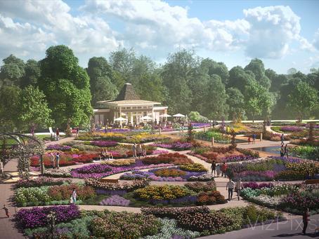 3D rendering of a Rejuvenated Rose Garden for the Royal Botanical Gardens
