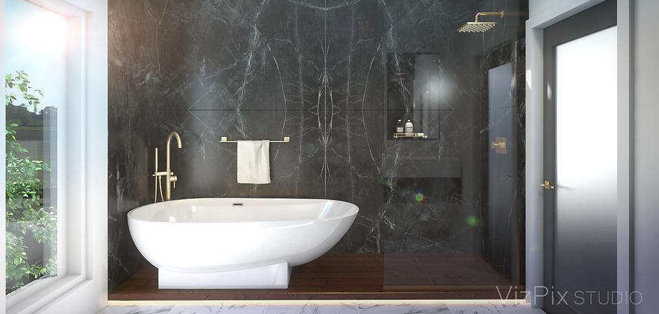Highcroft Townhouse Bathroom Rendering