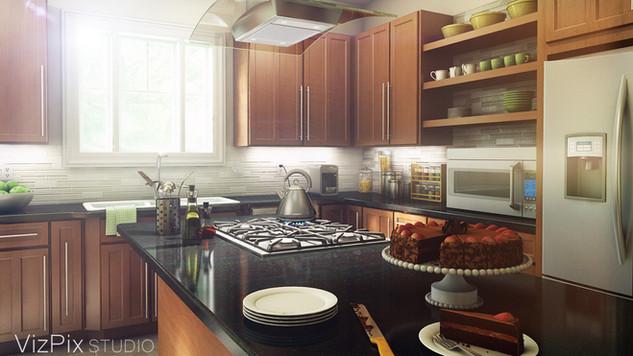 3D Architectural Rendering Kitchen