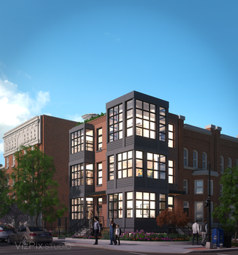 Architectural Rendering of Condos in Washington DC