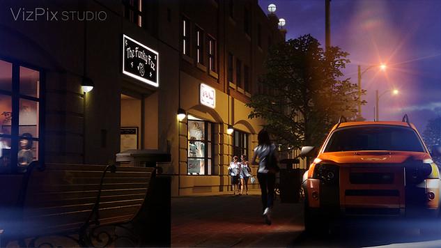 3D City Street Visualization