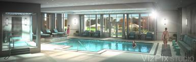 Luxury Pool Visualization Rendering