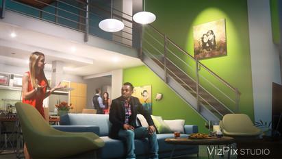 Modern Open Concept Loft Apartment